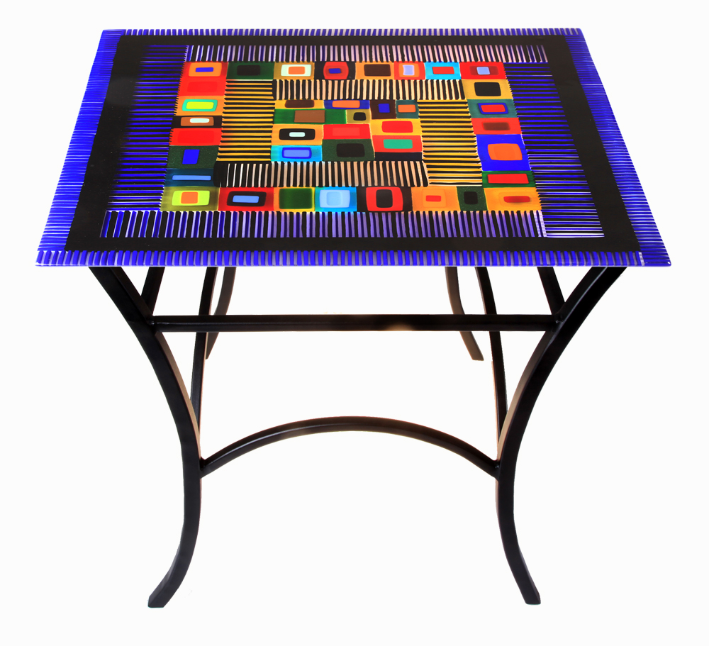 Pictured: Fused Glass Table by Helen Rudy. Photos © Helen Rudy Glass unless otherwise noted.