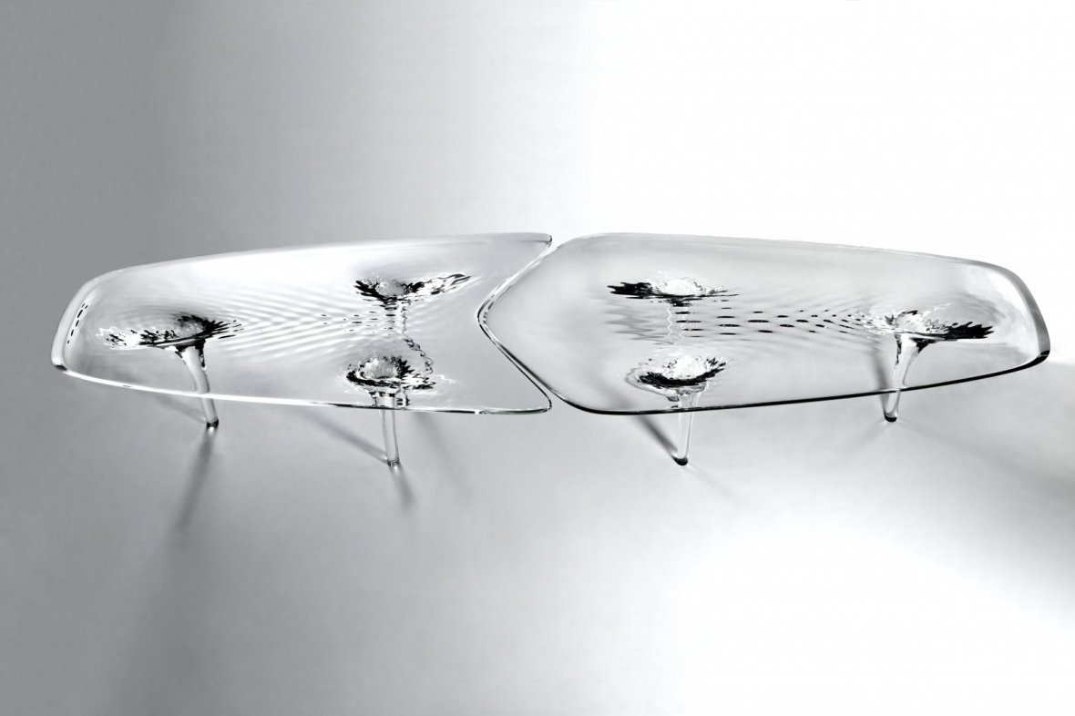 Pictured: Liquid Glacial Table by Zaha Hadid. Photos © Zaha Hadid / Jacopo Spilimbergo unless otherwise noted.